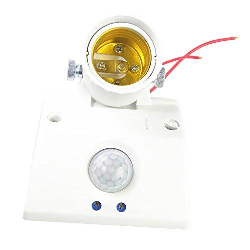 MagiDeal LED E27 Lampensockel Glühbirne Lampenhalter Bewegungsmelder Lampenfassung mit 360° PIR Bewegungssensor