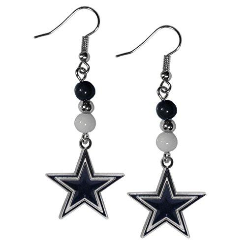 NFL Siskiyou Sports Womens Dallas Cowboys Fan Bead Dangle Earrings One Size Team Color