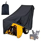 Mayhour Snow Thrower Cover Two-Stage Snow Blowers Cover Waterproof Heavy Duty Outdoor Anti-UV Dustproof Universal Size for Most Electric Snow Blowers with Locks Drawstring Buckles and Carry Bag