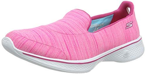 Skechers Damen Go Walk 4 - Satisfy Laufschuhe, Pink (Hot Pink), 38 EU