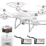 Kikioo Drone avion avec caméra for adultes FPV RC Quadcopter Aéronefs Wifi vidéo en direct Altitude Hover 4D VR 2,4 GHz 4 Axis Gyro Headless mode Télécommande RTF - Maintenir une opération clé/atter