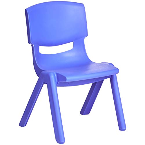AmazonBasics 10 Inch School Classroom Stack Resin Chair, Blue, 6-Pack