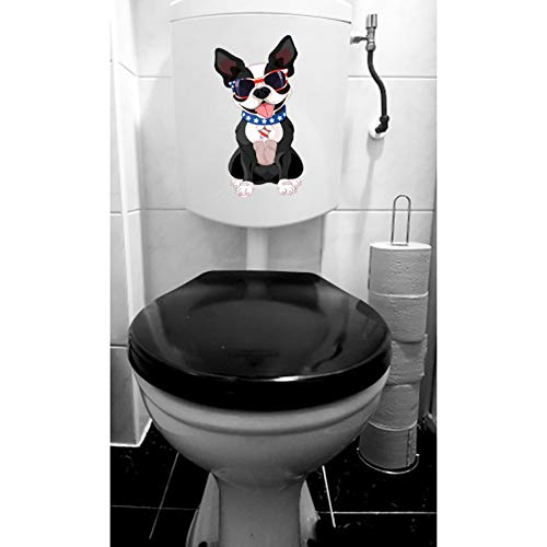 GSYZDCSTZ 3 stks 12.8 * 23.3CM Leuke huisdier hond toiletbril Stickers Muurstickers Home Decoratie