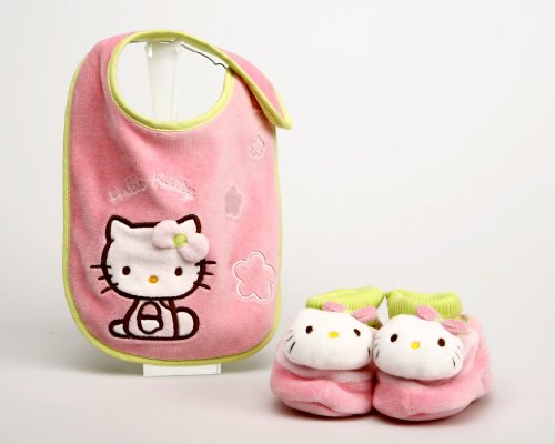 Atosa-42942 Set Babero+ Botitas Hello Kitty