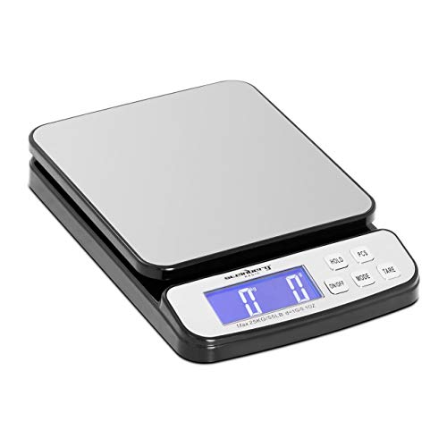 Steinberg Systems Balanza Pesacartas Digital Báscula Para Correo SBS-PT-25000 (Superficie: 198 x 180 mm, Pesaje: 5 g - 25 kg, Precisión: 1 g)