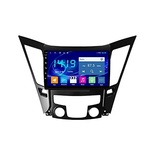 2 DIN Car Stereo Radio De Coche De 9 Pulgadas HD Pantalla Táctil Bluetooth Manos Libres Radio Auto FM con Cámara De Visión Trasera, para Hyundai Sonata 8 YF 2010-2015,Quad Core,4G WiFi 1+32