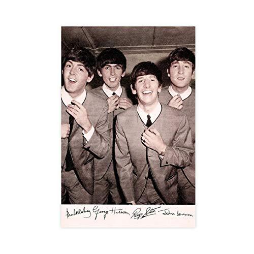 Póster de la banda británica de rock The Beatles 1 lienzo para decoración de pared, impresión de cuadros para sala de estar o dormitorio, 50 x 75 cm, estilo Unframe-1