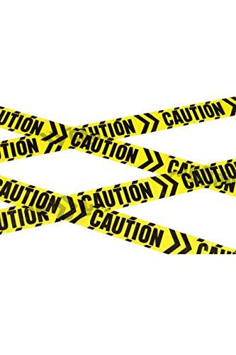 Smiffys 48810 Vorsicht Chevron Tape, schwarz/gelb, Einheitsgröße