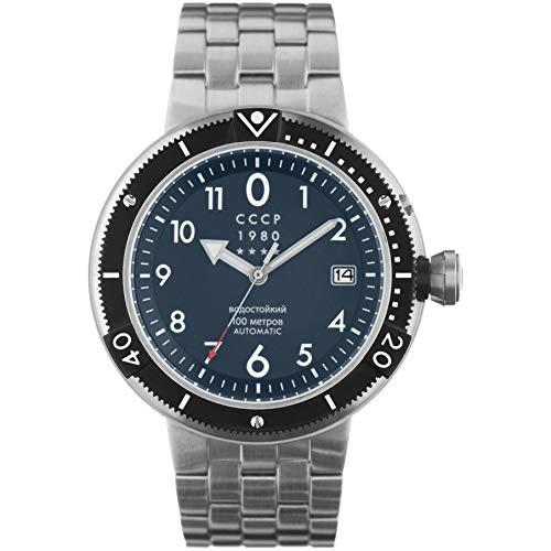 CCCP KashalotSubmarine Herren-Armbanduhr 47mm Automatik CP-7004-55