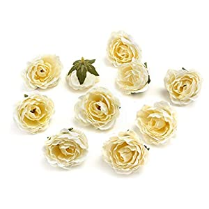 Flower heads in bulk wholesale for Crafts Carnation Silk Peony Artificial Rose Flower Heads European Wedding Decoration DIY Accessories Fake Flowers Party Birthday Home Decor 30pcs 4CM