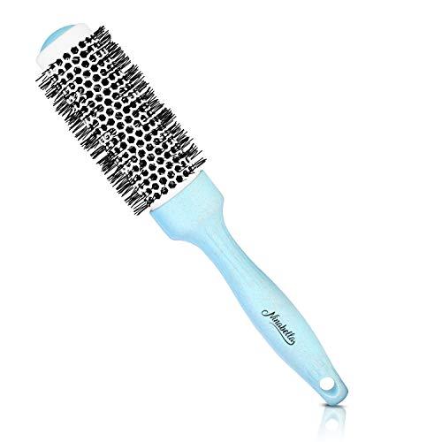 Ninabella® Bio Rundbürste Klein 34mm | Volumen-Fön-Bürste zum professionellen Stylen und Glätten Ihrer Haare | Ionen Rundhaarbürste mit Keramik-Aluminium-Körper | Antistatische Rundföhnbürste