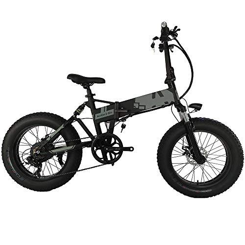 H&J Bicicleta eléctrica Plegable 36V250W 20 Pulgadas Portátil MTB Plegable Marco de...