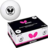 Butterfly G40+ Master Quality Table Tennis Balls - 40mm White Ping Pong Ball - Poly Table Tennis Ball - Ideal for Multi-Ball Practice and Robot Training - 72 Pack