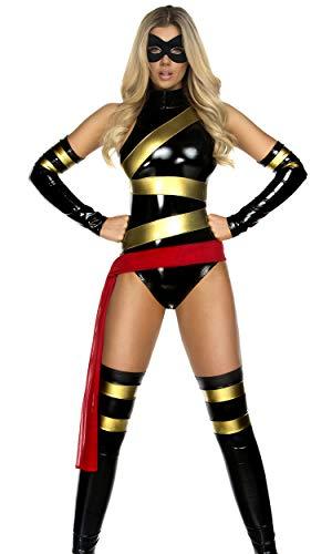 Forplay Disfraz de superhroe de Miss Marvelous para mujer, tamao mediano/grande