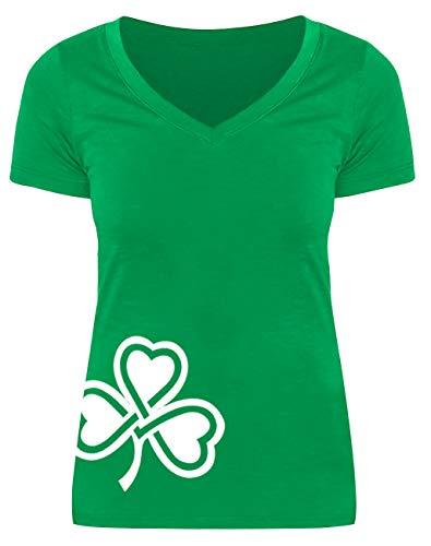 St Patricks Day Womens Irish Green Short Sleeve Top