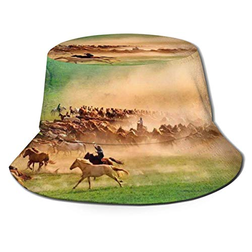 Sombreros de Cubo Transpirables con diseño de Caballo con diseño de Animales, Sombrero de Cubo con fórmula matemática Unisex, Sombrero de Pescador de Verano