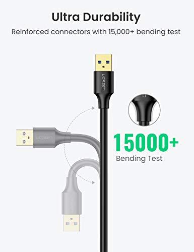 UGREEN USB 3.0 Verlängerung Kabel Verlängerungskabel USB 3.0 A Stecker auf A Buchse für Kartenlesegerät, Tastatur, USB-Stick, Externe Festplatte, USB Hub, Drucker, Scanner, Kamera usw. (1m)