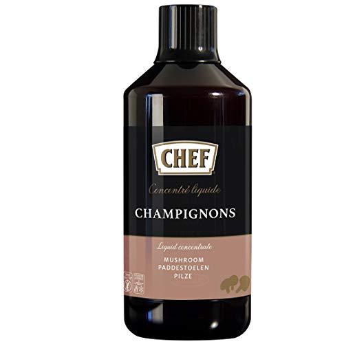 CHEF Flüssiges Konzentrat Pilz, Geschmacksboost für Pilz- und Gemüsegerichte, 100% Natürlicher Geschmack, vegan, 1er Pack (1 x 980 ml)