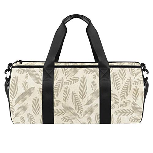 KAIXINJIUHAO 18' Duffle Bag for Travel Gym Sports Lightweight Luggage Duffel ,Light Brown