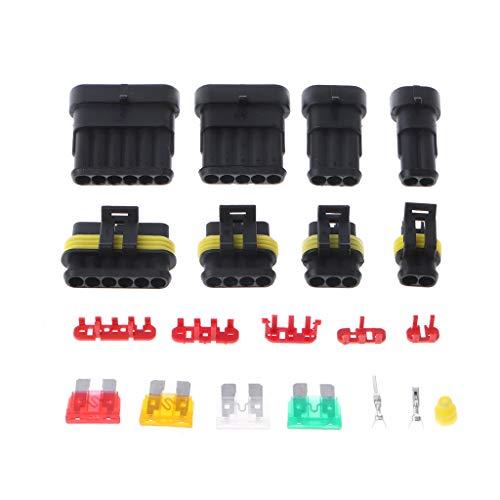 JUNESUN 240 Pcs Superseal AMP/Tyco Wasserdichte 12 V Elektrische Steckverbinder Kit 1/2/3/4/5/6 Way Pin