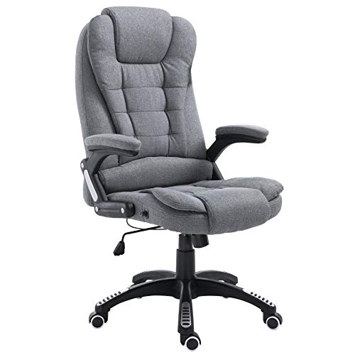 Cherry Tree Furniture Executive Recline Extra Padded Office Chair (Grey Fabric)