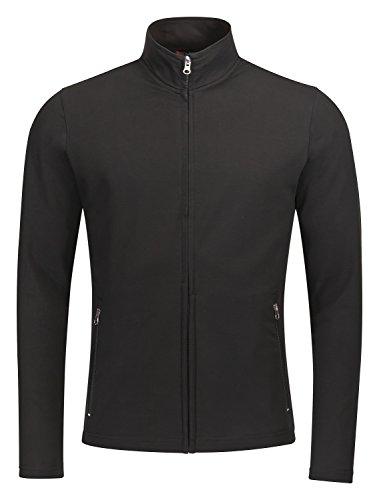 Fitter ins Leben Neue Hochwertige Sportswear, ideale REHA-und Freizeitjacke, mit Zwei seitlichen Reißverschlusstaschen, Unisex (Schwarz, M)