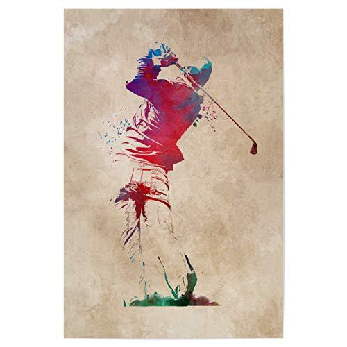 Poster 30x20 cm Golf Sport Kunstdruck