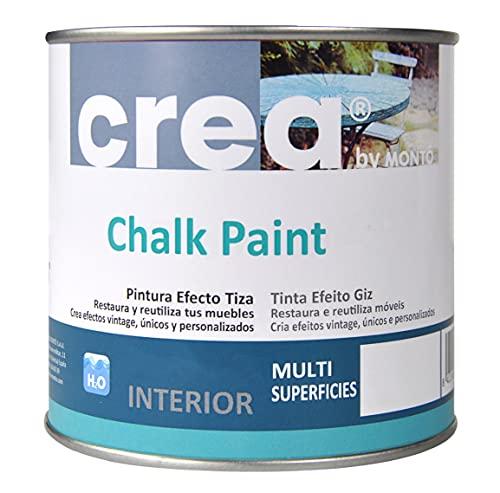 Pintura a la Tiza – Chalk Paint – Pinturas para decoración, restauración de muebles, madera – Pintura efecto Tiza (500ml) (Gris Gabardina)
