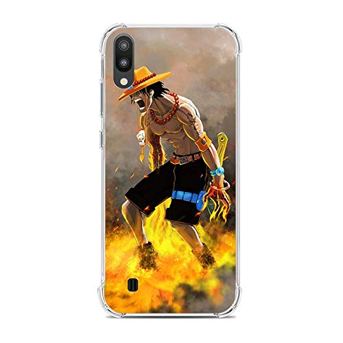 Be-better Case for Samsung Galaxy A10/M10, One-Piece Anime-Luffy 8 Ultra Clear Coque Thin Soft TPU Rubber Anti-Slip Phone Cover