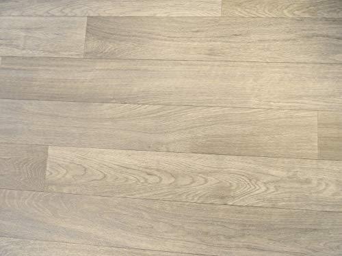 PVC Bodenbelag in hellen Holzplanken (9,95€/m²), Zuschnitt (4m breit, 2,5m lang)
