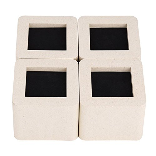 EBTOOLS- Möbel Risers, 4 Stück Bed Riser Möbelerhöher Betterhöhung Möbelerhöhung Tischerhöher Elefantenfuß für Tisch Bett Sofa Kleiderschrank, Beige