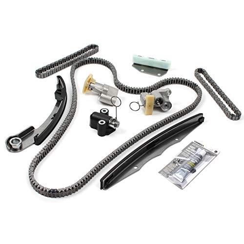 Engine Timing Chain Kit (w/o Gears) Compatible with 05-10 NISSAN 4.0L 3954CC V6 DOHC (24 Valve)'VQ40DE'