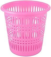 DealMux Plastic hol uit ontwerp vuilnisbak afval papier mand vuilnisbak 27cm hoogte roze