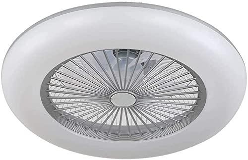 BEL AIR HOME - Ventilador Plafón Led serie KIRA 3000K-4000K-6500K Con Mando a Distancia y Control a Través de App (Plata)