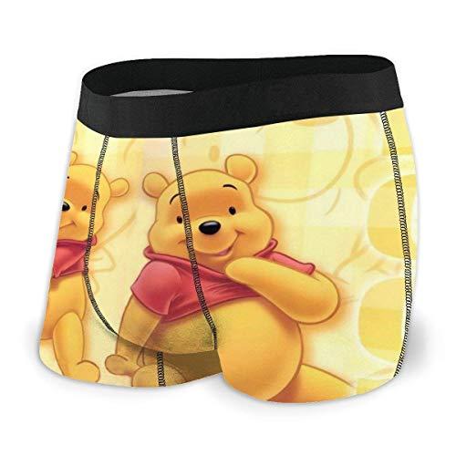 Lsjuee Herrenunterwäsche Winnie The Pooh Herren Boxershorts Bequeme mikroelastische Polyesterfaser-Slips