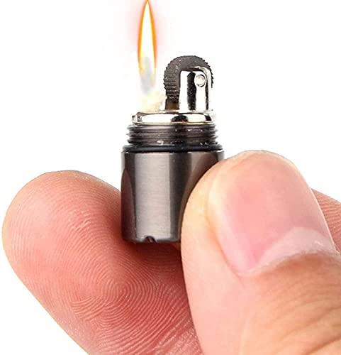 XBSJB - Accendino di piccole dimensioni, leggero, per unghie, campo, olio di fuliggine, campo, cherosene, durevole, campeggio, viaggi, campeggio