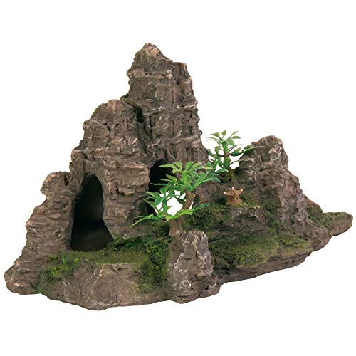Trixie 8853 Felsformation mit Höhle/Pflanzen, 22 cm