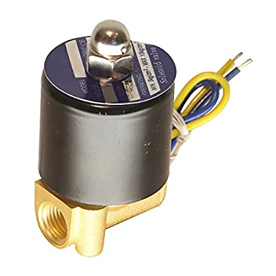 "HFS 110v Ac or 12v Dc Electric Solenoid Valve Water Air Gas, Fuels N/c - 1/4"", 1/2"", 3/4"", 1"" NPT Available (110V AC 1/4"" NPT) by HFS"