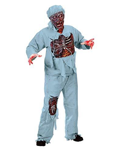 Horror-Shop Zombie Chirurg 3D Premium Kostüm für Zombie Walk & Halloween | One Size