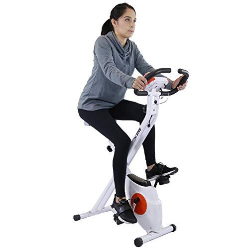 Xspec Foldable Stationary Upright Exercise Bike Magnetic Cardio Workout Indoor Cycling