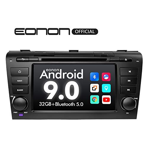 2020 Double Din Car Stereo Android Radio, Eonon Android Head Unit 7 Inch Car Stereo Applicable to Mazda 3 2004-2009 Support Carplay/Android Auto/Bluetooth 5.0/Fast Boot/DVR/Backup Camera/OBDII-GA9351