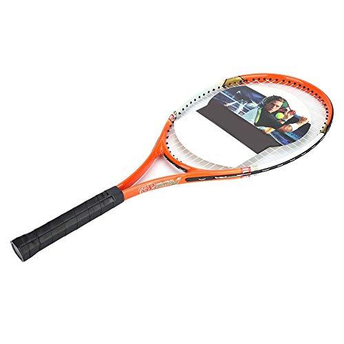 1 Raquette de Tennis Professionnelle en Alliage d'aluminium avec Sac de Transport pour débutants(Orange)