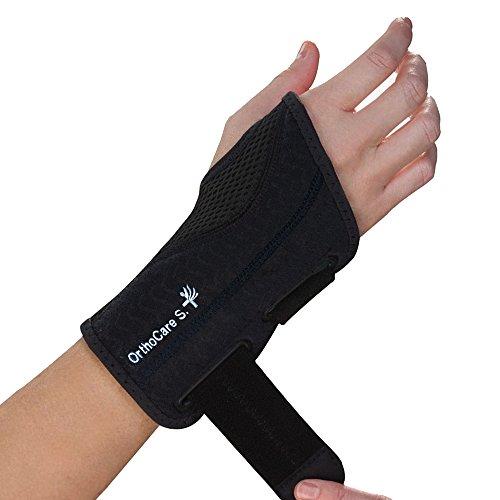 OrthoCare S - Muñequera ligera ajustable. Alivia el dolor y entumecimiento derivado del Sindrome del Tunel Carpiano, dolor de muñeca, esguinces, artritis, etc. Uso diario y nocturno. Mano derecha