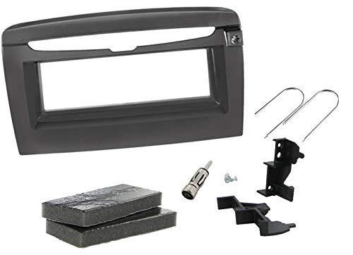Sound Way Kit Montaggio Autoradio, Mascherina 1 DIN, Adattatore Antenna, Chiavi di Smontaggio, Compatibile con Lancia Y Ypsilon 2012