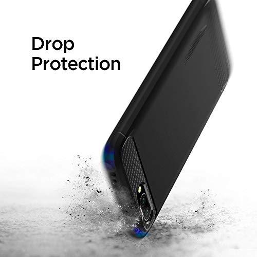 Rugged Armor für Huawei Honor 10 Hülle Karbon Look Stylisch Soft Flex TPU Silikon Handyhülle Schutzhülle Case – Schwarz - 5