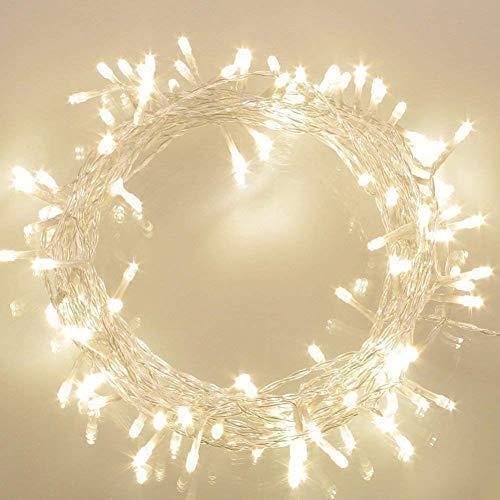 KooPower 100 Led Lichterkette Batterienbetrieben mit Timer Warmweiß (8 Modi, 11M, IP65 Wasserdicht) Außenbeleuchtung für Christmas Festlich Hochzeiten