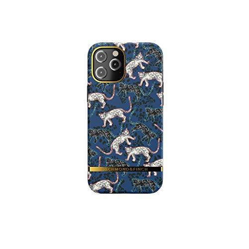 RICHMOND & FINCH Funda Teléfono Diseñada para iPhone 12 Pro MAX Funda, 6.7 Pulgada, Azul Leopardo Fundas Probadas contra Caídas, Bordes Elevados a Prueba De Golpes, Funda Protectora