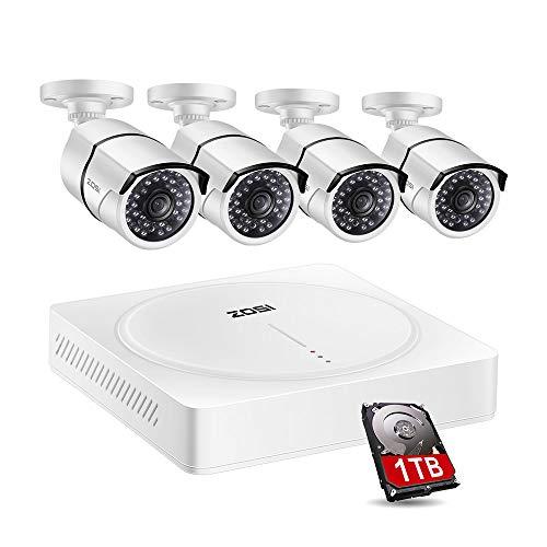 Zosi 1080P Bullet Camera CCTV, videocamera di sicurezza