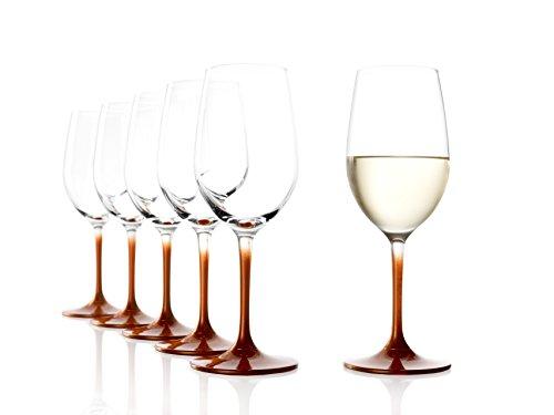 STÖLZLE LAUSITZ Weißweingläser Event 360ml in Bronze I Weißweingläser 6er Set I Weingläser spülmaschinenfest I Weißwein Kelche Set bruchsicher I hochwertiges Kristallglas I höchste Qualität