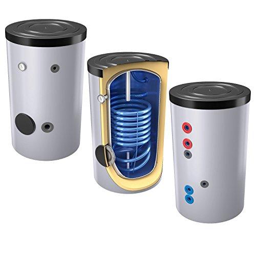 160 Liter emaillierter Solarspeicher / Warmwasserspeicher / Trinkwasserspeicher, Energieeffiziensklasse B, mit 1 Wärmetauscher, inkl. Isolierung, Magnesiumanoden und Thermometer